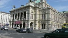Staatsoper building in Vienna Stock Footage