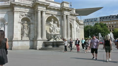 Albertina Museum in Vienna Stock Footage