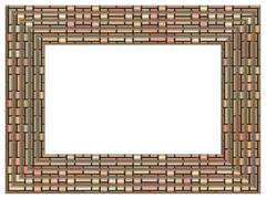 Picture frame generated isolated texture Stock Illustration