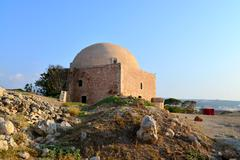 Rethymno Fortezza fortress Mosque Stock Photos