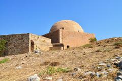 Rethymno Fortezza fortress Mosque - stock photo