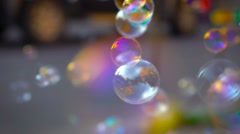 Soap Bubbles In Real Time Dof Stock Footage