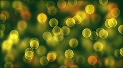 Animated motion background video - Blurred spots greenish Stock Footage