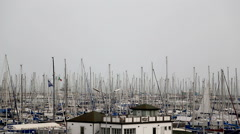 Yacht parking Port of Ravenna March 2016 Stock Footage