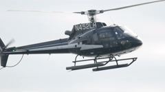 Close up of helicopter landing Stock Footage