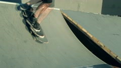Skateboarding Extreme sport in the city  Stock Footage