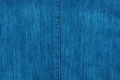 Blue seam on blue denim, fashion - stock photo