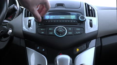 Built-in car dashboard Chevrolet Cruze with indicators Stock Footage