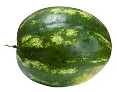 Side view of ripe whole watermelon isolated Stock Photos