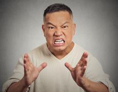 Angry man screaming Stock Photos
