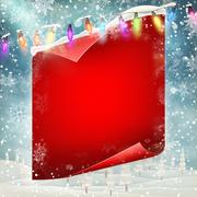 Merry Christmas greeting card template. EPS 10 Stock Illustration