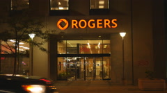 Office of Rogers Communications at 350 Bloor East. Toronto, Canada. Stock Footage