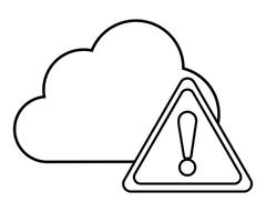 Cloud triangle cyber security system design Stock Illustration