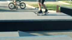 Skateboarding extreme Stock Footage