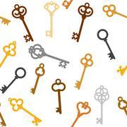 Vintage skeleton keys Stock Illustration