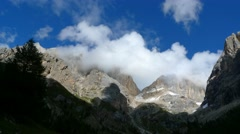 Clouds over Alps - timelapse  (4K) Stock Footage