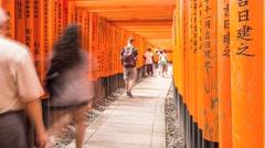 Kyoto Fushimi Inari Shrine Timelapse - JAPAN Stock Footage