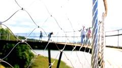Observation deck Zarasai Stock Footage