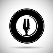 Cutlery and restaurant icon design, vector illustration Stock Illustration