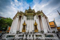 The historic Wat Pho Buddhist temple, in Bangkok, Thailand. Stock Photos