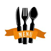 Cutlery and restaurant icon design, vector illustration Stock Illustration