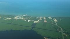 Belize Coast Aerial Stock Footage