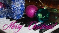 Animated card Christmas greetings Stock Footage