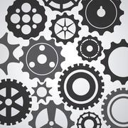 Gear cog machine part set design Stock Illustration