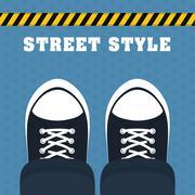 Street and urban style design , vector illustration Stock Illustration