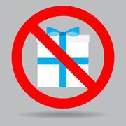Ban gift box Stock Illustration