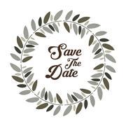 Save the date graphic design, vector illustration Stock Illustration