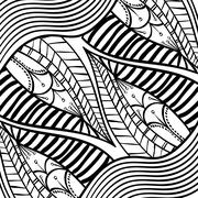 Black and White draw design, abstract vector Stock Illustration