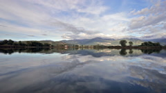 Reserve of natural lakes in Italy Stock Footage