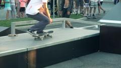 Skateboarding extreme teenage sport Stock Footage