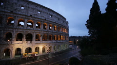 Colosseum in Rome, Italy Stock Footage