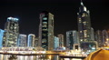 Dubai Marina night timelapse, United Arab Emirates HD Footage