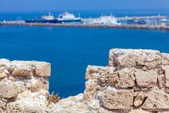 Marina and Kyrenia Castle (16th c.), North Cyprus Stock Photos