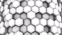 Animated White Honeycombs Stock Footage