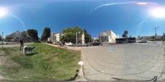 Tel aviv  Rothschild habima -  vr 360 Stock Footage