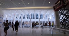 Establishing Shot Interior Oculus Structure at World Trade Center Stock Footage