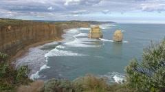 Twelve Apostles, Great Ocean Road, Australia Stock Footage