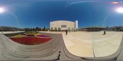Tel aviv  habima square -  vr 360 Stock Footage