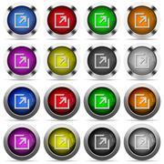 Export glossy button set Stock Illustration