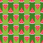 Cute seamless watermelon pattern Stock Illustration