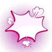 Speech pink bubble Pop-Art Style Stock Illustration