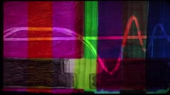 Old color tv - creative animation Stock Footage