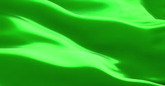 Waving fabric texture of the flag with chroma key green screen color Stock Footage