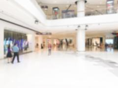 Abstract blur luxury retail and shopping mall interior for background Stock Photos