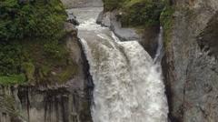 San Rafael Falls. The largest waterfall in Ecuador. In July 2016. Stock Footage