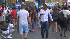 Toronto downtown china town market district Stock Footage